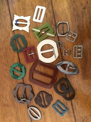 Collection Job Lot Of Vintage Buckles