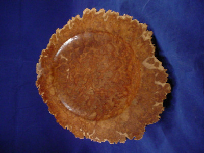 Australian Corrugata Burl Bowl two tones seldom seen in the USA eyes & more eyes