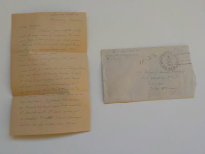 WWII Letter 1945 18th Infantry 1st Division The Big Red One Nurnberg Germany WW2