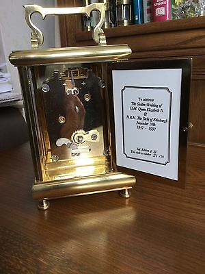 Taylor & Bligh Kingsley Enamel Brass Carriage Clock 8-Day Wind-Up Signed S.smith