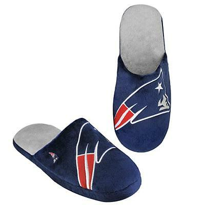 New England Patriots Slippers Team Colors Big Logo NEW Two Toned House shoes BLG