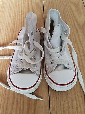 Boys Girls  Infants Toddlers High Top All Star Converse Trainers Size Uk 5