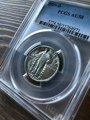 1929-D Standing Liberty Quarter PCGS AU58 Lots of Luster