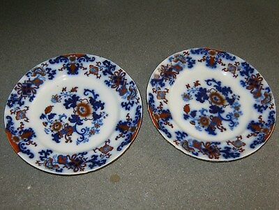 Stunning Rare Pair Of Antique Chinese  Hand Decorated Plates Full Makers Marks