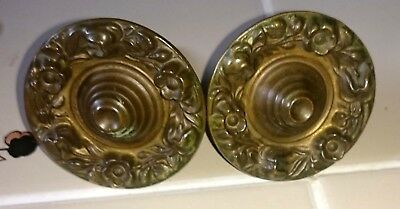 Antique Vintage Victorian Drawer Desk Puffy Pull Pulls Handles Large Authentic