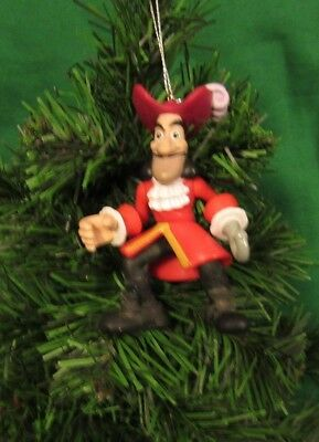 "Walt Disney Christmas Ornament Peter Pan ""captain Hook"""