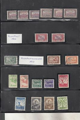 oldhal-Hungary- Great lot of Air Mail Stamps  - 1920-1933