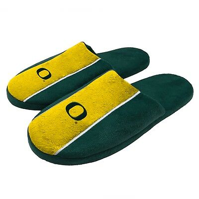 Pair of Oregon Ducks Big Logo Stripe Slide Slippers House shoes New STP18