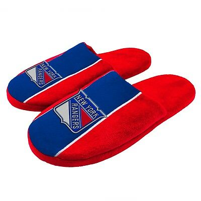 Pair of New York Rangers Big Logo Stripe Slide Slippers House shoes New STP18