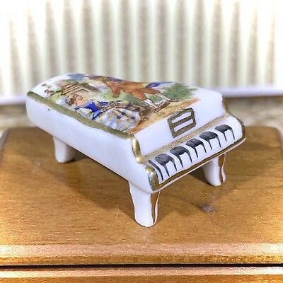 Limoges/France BEAUTIFUL PIANO Vintage Miniature Dollhouse Collectible