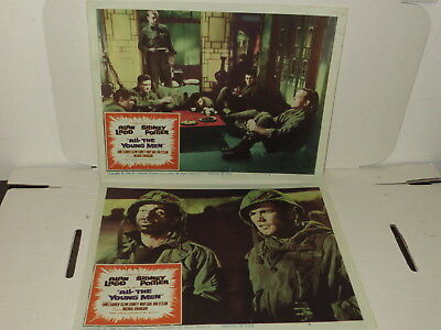# Vintage Lot Of 2 All-The Young Men 1960 Movie Cinema Lobby Cards #