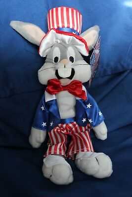 Looney Tunes Bugs Bunny Uncle Sam Star and Stripes Plush Retired 1999