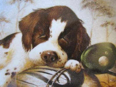 "Springer Spaniel Collector's Plate Marked"" Knowles ""dog Tired"" Dated 1987 Kaatz"