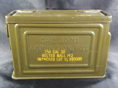 Vintage Military Ammo Can Cal 30 M1 Ammunition Box Canco Us Army Repacked