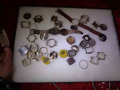 Vintage Mixed Lot of Mechanical Wristwatch Parts  DIALS FACE