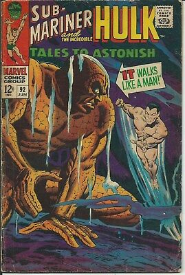 The Unique! The Rare! The Awesome! Tales To Astonish #92 (1967) Good