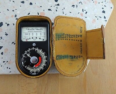 Vintage Weston Master Universal Exposure Light Meter S74/715 in Leather Case