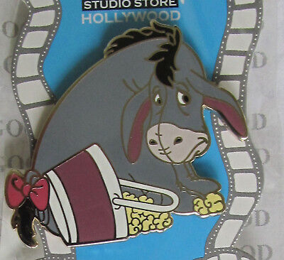 Disney Pin DSF DSSH EYEORE with Spilled Bucket of Popcorn  NEW on Card