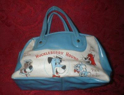 Vintage Vinyl Bag Huckleberry Hound Yogi Bear Mr Jinks Pixie Dixie Hanna Barbera
