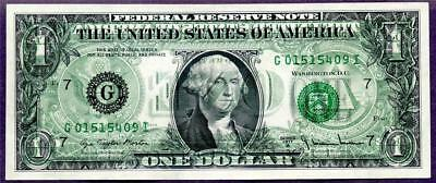 HGR SUNDAY ((ERROR)) 1977A $1 ((WANTED 100% Complete Offset)) GEM UNCIRCULATED