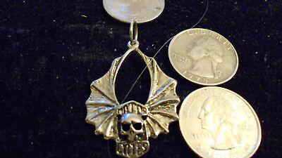 bling pewter MYTH motorcycle skull CELTIC pendant charm hip hop necklace JEWELRY