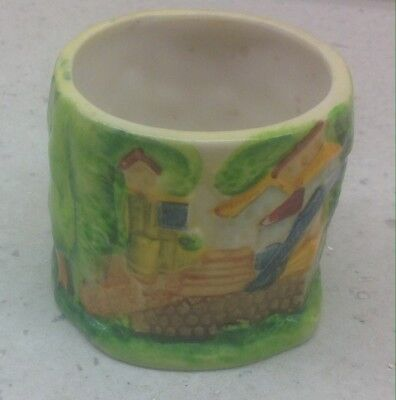 Vintage Marutomo Colourful Relief Ceramic Japanese Pot - Collectable