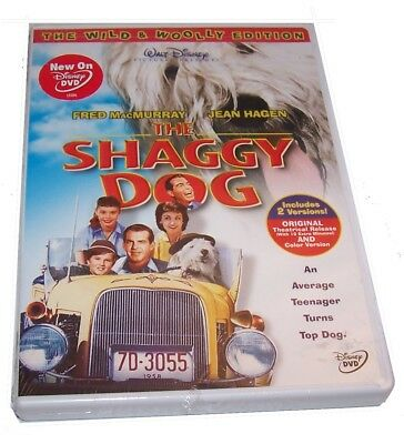 Brand New! Disney's The Shaggy Dog Wild & Woolly Edition 2 Movie Versions DVD