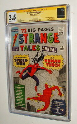 1963 Strange Tales #2 Annual Comic  Signed By Stan Lee Cgc 3.5 Signature Series