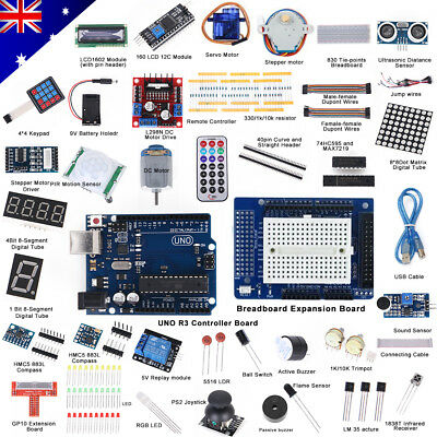 Professional UNO R3 Starter Kit for Arduino LCD Compass Gyro Processing AU