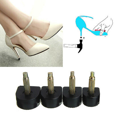 5Pcs High Heel Shoes Repair Replacement Tips Taps Plates Dowel Lifts U-Shape