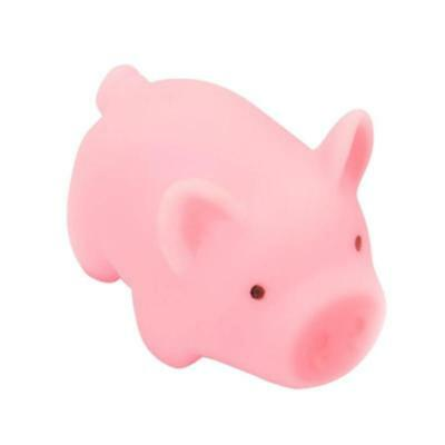 1pc Pink Cartoon Pig Toy Cute Piggy Sounding Silicone Squezze Toys Kids Adult St