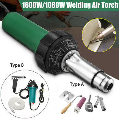 1600W/1080W AC 220V Hot Air Pistol Plastic Welding Torch Welder Heat Gun Kit