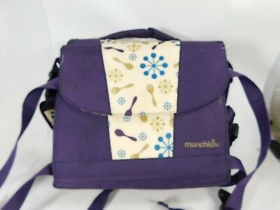 MUNCHKIN Travel Booster Seat With Purple/Floral Pattern - Model MK0017