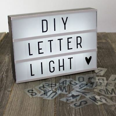 Movie A4 Letter Light Box 69 Letters Numbers LED Sign Wedding Party Christmas