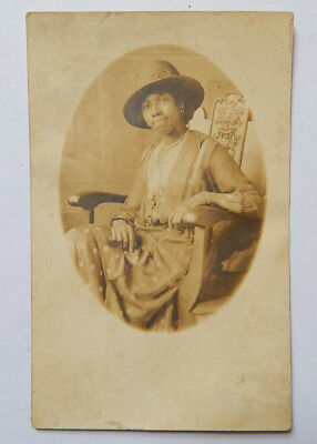 African American Woman Real-Photo Postcard (1910s)