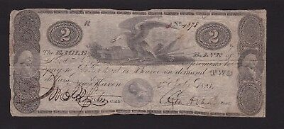 Eagle Bank $2 Note  New Haven  July 4,1823