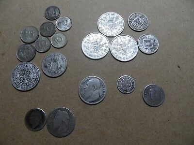 Job lot collection of antique/vintage international silver coins