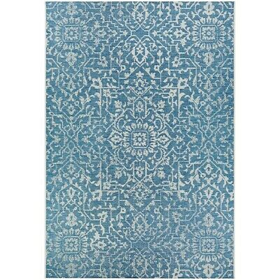 """Couristan Palmette Ocean-Ivory In-Out Rug, 5'10"""" x 9'2"""" - 23293216510092T"""