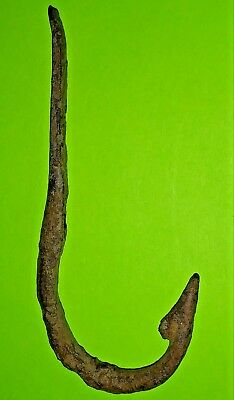Ancient Roman FISHING HOOK 300 AD old fish tool authentic artifact antique large