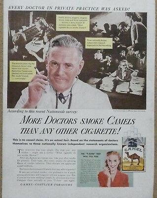 More Doctors Smoke Camels Ad...1946 Print Ad Private Practice