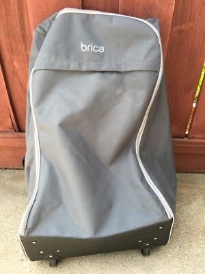 BRICA Car Seat Travel Tote Carseat Backpack Baby Wheeled Rolling