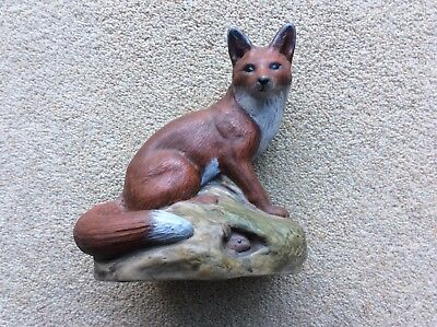 Collectable Poole Pottery Fox With Rabbits Signed