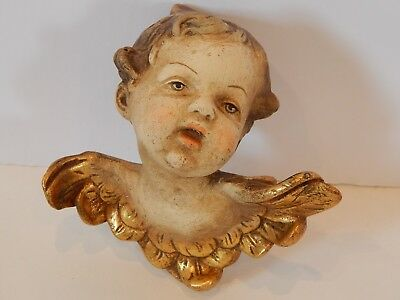 Vintage German Hand Painted Angel Cherub Putti Large Size Germany #2