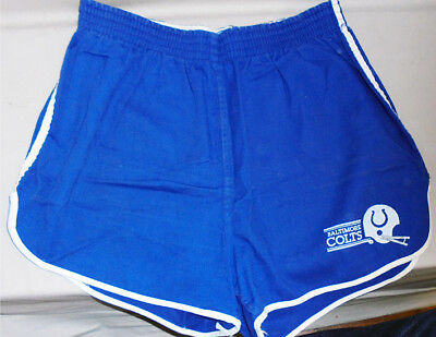 1970's -Baltimore Colts- Vintage Champion Blue Bar NFL FB Team Issued Shorts
