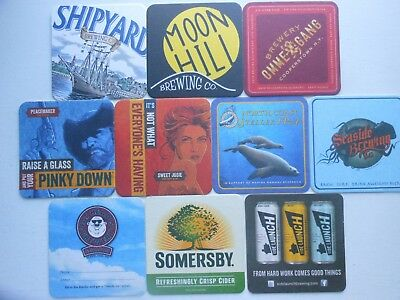10 Craft Beer Coasters-Side Launch,seaside,lonerider,somersby,fatheads,steller
