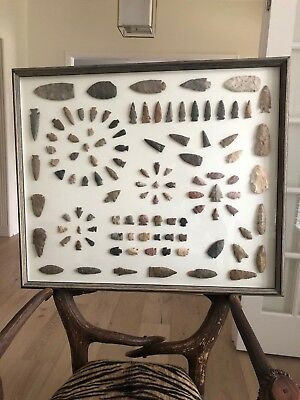 Authentic Native American Indian Arrowhead Collection - Found 50 years ago - SEE