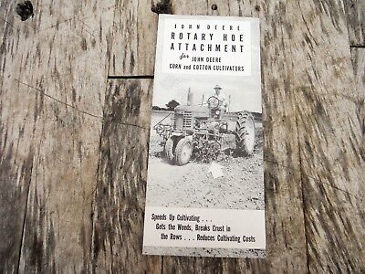 Vintage John Deere Rotary Hoes For Cotton And Corn Cultivators Brochure 47-12