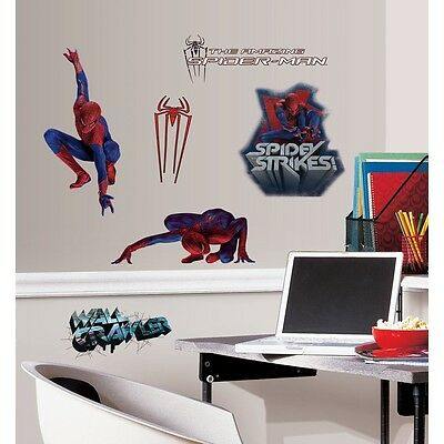 25 Wall Stickers Spider-Man Decorative Children Wall Decals Stick Ups NIP