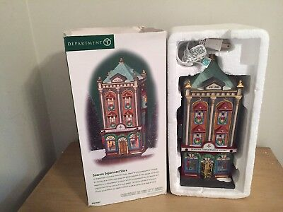 Dept 56 Seasons Department Store Christmas in the City Series 59201