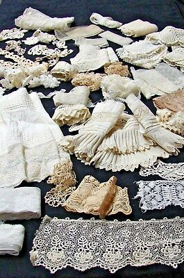 ANTIQUE LOT 1800s VICTORIAN EARLY 1900s VARIETY LACE TRIM